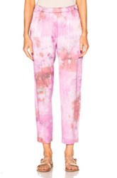 Raquel Allegra Relaxed Pants In Pink Ombre And Tie Dye Pink Ombre And Tie Dye