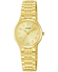 Pulsar Women's Gold Tone Stainless Steel Bracelet Watch 25Mm Pg2034 No Color