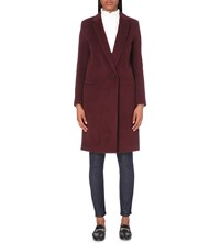 Claudie Pierlot Gold Wool Blend Coat Bordeaux