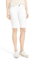 Women's Kut From The Kloth 'Natalie' Twill Bermuda Shorts White