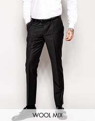 Noose And Monkey Tuxedo Suit Trousers In Skinny Fit Black