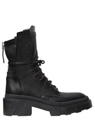 Cinzia Araia 50Mm Leather Combat Boots