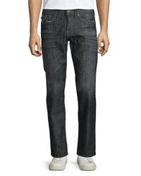 True Religion Geno Straight Leg Denim Jeans Dark Gray Women's