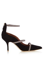 Malone Souliers Robyn Point Toe Suede Pumps Black Grey