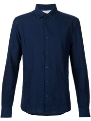 Orlebar Brown Long Sleeve Shirt Blue