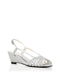 Caparros Open Toe Wedge Evening Sandals Tango Light Silver