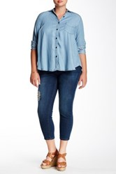 Kut From The Kloth Emma Ankle Straight Leg Jean Plus Size Blue