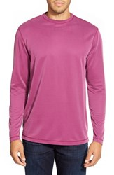 Men's Bugatchi Long Sleeve Knit T Shirt Berry