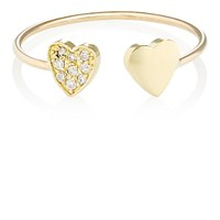 Jennifer Meyer Women's Two Heart Ring Gold