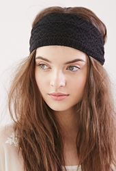 Forever 21 Crochet Headwrap Black