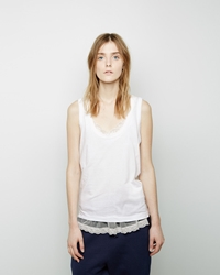 Sacai Luck Lace Trim Tank White
