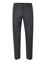 Topman Grey And Blue Check Skinny Fit Cropped Trousers