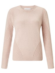 John Lewis Collection Weekend By Deflected Rib Jumper Pink