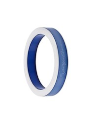 Giorgio Armani Signature Wide Bangle Blue
