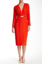 Bec And Bridge Bon Bon Long Sleeve Dress Orange