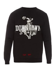 Off White Downtown Cotton Sweatshirt Black Multi