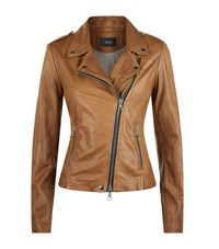 Set Leather Jacket Female Tan