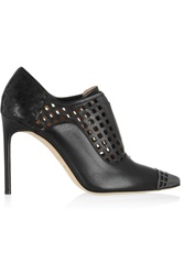 Reed Krakoff Perforated Leather Ankle Boots Black