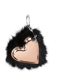 Stella Mccartney Heart Faux Fur Bag Charm