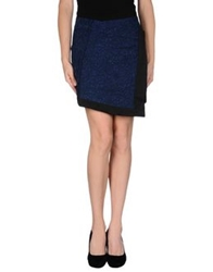 Elizabeth And James Mini Skirts Dark Blue