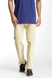 Peter Millar Raleigh Flat Front Washed Pant Yellow