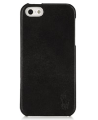 Polo Ralph Lauren Accessories Burnished Leather Hard Phone Case Black