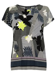 Warehouse Abstract Floral Top Multi