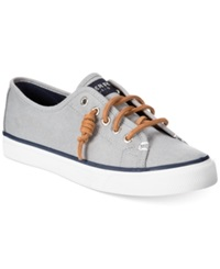 Sperry Women's Seacoast Canvas Sneakers Women's Shoes Charcoal Burnished