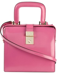 Dsquared2 Rigid Tote Pink And Purple