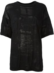 Maison Martin Margiela Mm6 Loose Fit T Shirt Black