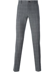 Dolce And Gabbana Prince Of Wales Check Trousers Grey