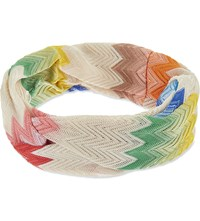 Missoni Zig Zag Knitted Headband Pink