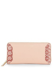Cole Haan Leather Snake Embossed Panel Wallet