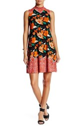 Angie Mock Neck Swing Dress Multi