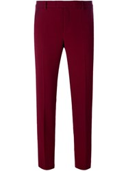 Red Valentino Tapered Tailored Trousers Pink And Purple