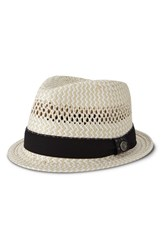 Men's Ben Sherman Vented Straw Trilby Jet Black