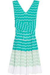 M Missoni Crochet Knit Cotton Blend Dress Green