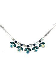 Monet Peacock Crystal Flower Necklace N A N A