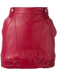 Versus Elasticated Detailing Fitted Skirt Red
