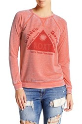 Roxy Ray Of Gold Sands Crew Neck Pullover Pink