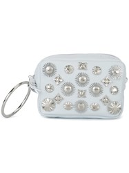 Toga Studded Clutch White