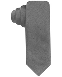Alfani Red Fall Solid Skinny Tie Charcoal