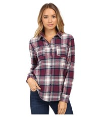 O'neill Freestyle Top Total Eclipse Women's Long Sleeve Button Up Navy