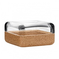 Iittala Vitriini Box 108 X 108 Mm Clear Cork Bowls Decoration Finnish Design Shop