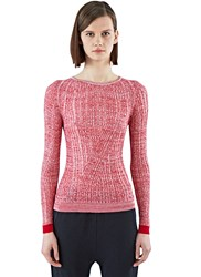 Acne Studios Marcy Mouline Ribbed Sweater Red