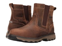 Caterpillar Pelton Steel Toe Dark Beige Men's Work Pull On Boots Brown