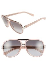 Women's Bobbi Brown 'The Jake' 59Mm Aviator Sunglasses Silver Pink
