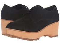 Eileen Fisher Act Black Tumbled Nubuck Women's Lace Up Casual Shoes