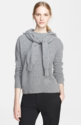 Band Of Outsiders Felted Wool Sweater With Hood Felted Grey