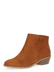 Dorothy Perkins Western Suedette Ankle Boots Tan